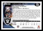 2010 Topps #338  Michael Bush  Back Thumbnail