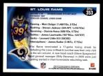 2010 Topps #353   -  Steven Jackson Rams Team Back Thumbnail