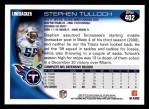 2010 Topps #402  Stephen Tulloch  Back Thumbnail