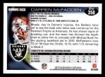 2010 Topps #358  Darren McFadden  Back Thumbnail