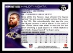 2010 Topps #393  Haloti Ngata  Back Thumbnail