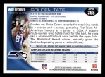 2010 Topps #398  Golden Tate  Back Thumbnail