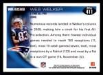 2010 Topps #411  Wes Welker  Back Thumbnail