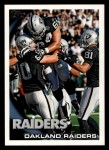 2010 Topps #439   -  Chaz Schilens Raiders Team Front Thumbnail