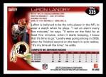 2010 Topps #335  LaRon Landry  Back Thumbnail