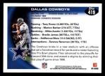 2010 Topps #419   -  Tony Romo / Marion Barber Cowboys Team Back Thumbnail