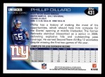 2010 Topps #431  Phillip Dillard  Back Thumbnail
