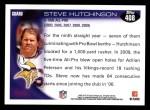 2010 Topps #408  Steve Hutchinson  Back Thumbnail