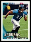 2010 Topps #391  Mike Sims-Walker  Front Thumbnail