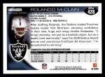 2010 Topps #428  Rolando McClain  Back Thumbnail