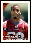2010 Topps #388  Daryl Washington  Front Thumbnail