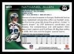 2010 Topps #344  Nate Allen  Back Thumbnail