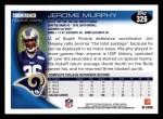 2010 Topps #326  Jerome Murphy  Back Thumbnail