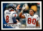2010 Topps #321   -  Matt Schaub / Andre Johnson Texans Team Front Thumbnail