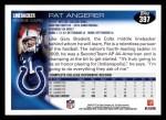 2010 Topps #397  Pat Angerer  Back Thumbnail