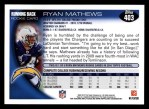 2010 Topps #403  Ryan Mathews  Back Thumbnail