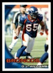 2010 Topps #345  D.J. Williams  Front Thumbnail