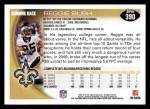 2010 Topps #390  Reggie Bush  Back Thumbnail