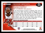 2010 Topps #374  Reggie Brown  Back Thumbnail