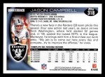2010 Topps #318  Jason Campbell  Back Thumbnail
