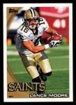 2010 Topps #308  Lance Moore  Front Thumbnail