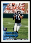 2010 Topps #315  Armanti Edwards  Front Thumbnail
