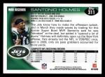 2010 Topps #311  Santonio Holmes  Back Thumbnail