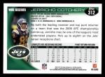 2010 Topps #312  Jerricho Cotchery  Back Thumbnail