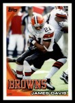 2010 Topps #334  James Davis  Front Thumbnail