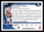 2010 Topps #359  John Carlson  Back Thumbnail