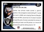 2010 Topps #417  Shane Lechler  Back Thumbnail