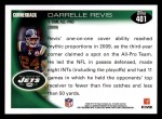2010 Topps #401  Darrelle Revis  Back Thumbnail