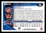 2010 Topps #396  Fred Jackson  Back Thumbnail