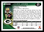 2010 Topps #421  James Jones  Back Thumbnail