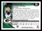 2010 Topps #367  Morgan Burnett  Back Thumbnail