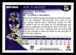2010 Topps #330  Joe Flacco  Back Thumbnail