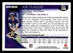 2010 Topps #330  Joe Flacco  Back Thumbnail