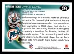 2010 Topps #384  Jake Long  Back Thumbnail