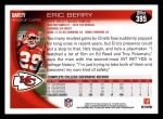 2010 Topps #395  Eric Berry  Back Thumbnail