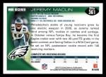 2010 Topps #361  Jeremy Maclin  Back Thumbnail