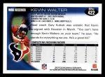 2010 Topps #422  Kevin Walter  Back Thumbnail