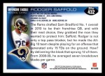 2010 Topps #432  Rodger Saffold  Back Thumbnail