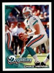 2010 Topps #301  Chad Henne  Front Thumbnail