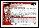 2010 Topps #336  Alex Smith  Back Thumbnail
