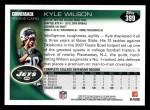 2010 Topps #399  Kyle Wilson  Back Thumbnail