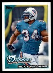 2010 Topps #322  Ricky Williams  Front Thumbnail