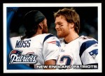 2010 Topps #347   -  Tom Brady / Randy Moss Patriots Team Front Thumbnail