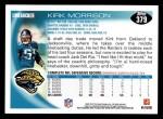 2010 Topps #379  Kirk Morrison  Back Thumbnail