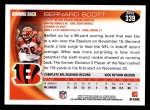 2010 Topps #339  Bernard Scott  Back Thumbnail