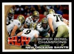 2010 Topps #346   Super Bowl Champions Front Thumbnail